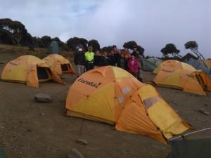 het slaap en tentenkamp